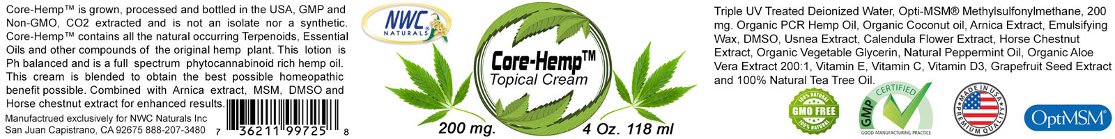 Core-Hemp-Label